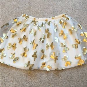Other - Gold and cream bow skirt